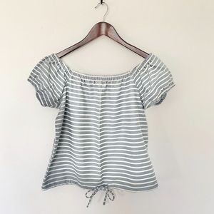 Madewell Melody Striped Blouse Size Large